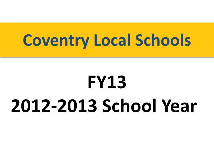 Coventry Local Schools