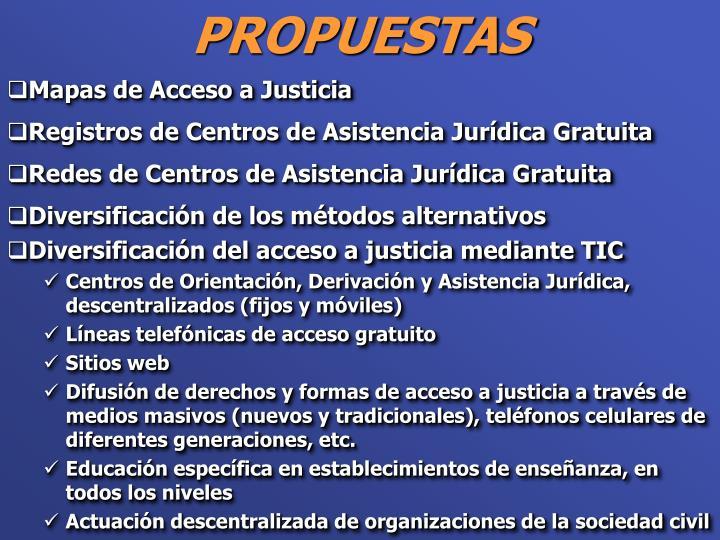 Mapas de Acceso a Justicia