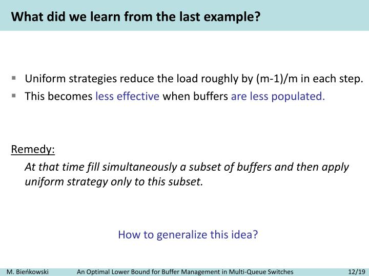 What did we learn from the last example?