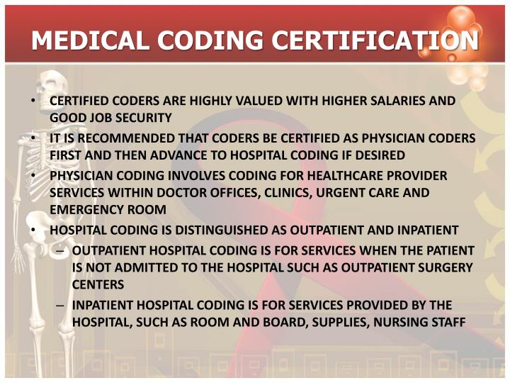 coding medical certification powerpoint ppt presentation certified