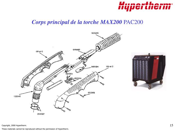 Corps principal de la torche MAX200