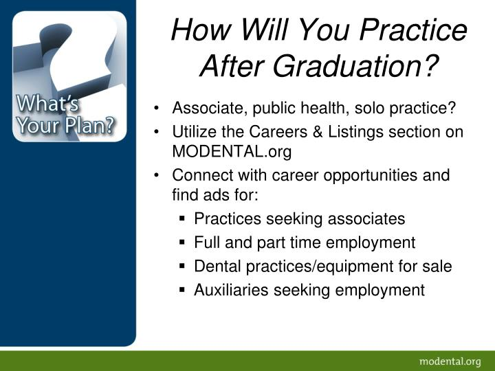 How Will You Practice After Graduation?