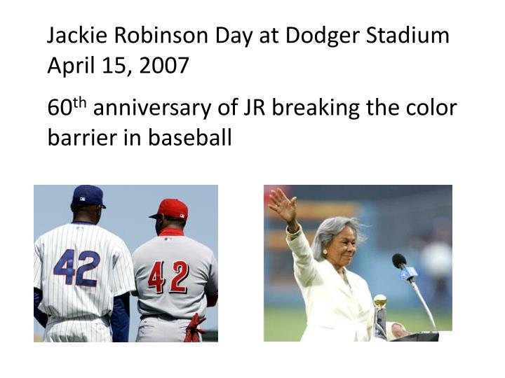 jackie robinson breaks the color barrier in american baseball