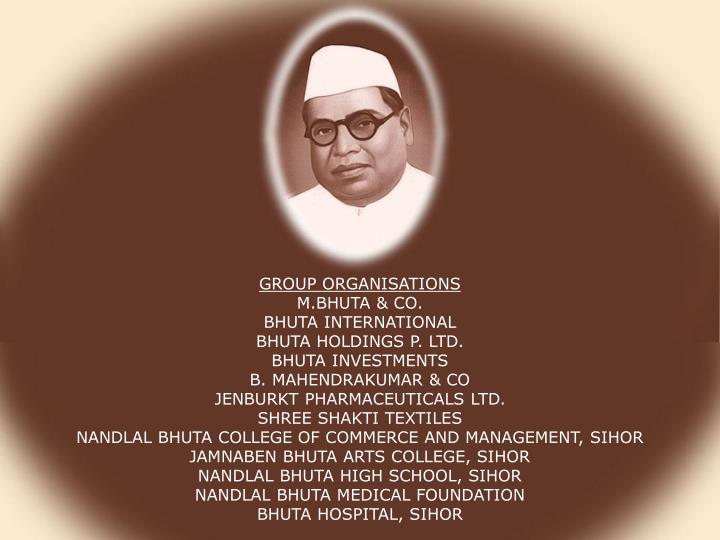 GROUP ORGANISATIONS