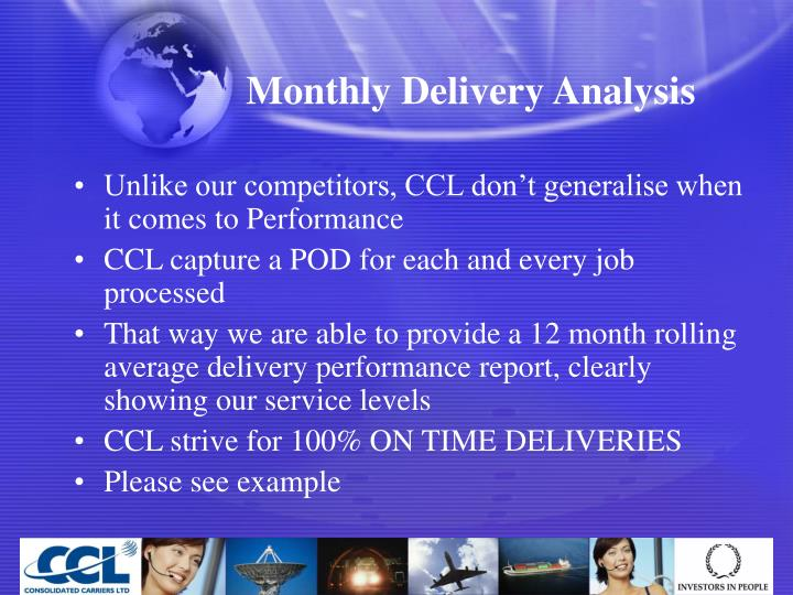 Monthly Delivery Analysis