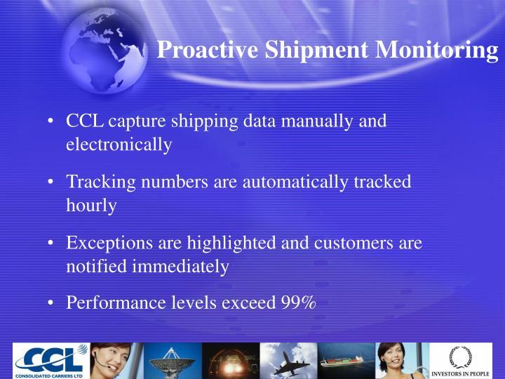 Proactive Shipment Monitoring