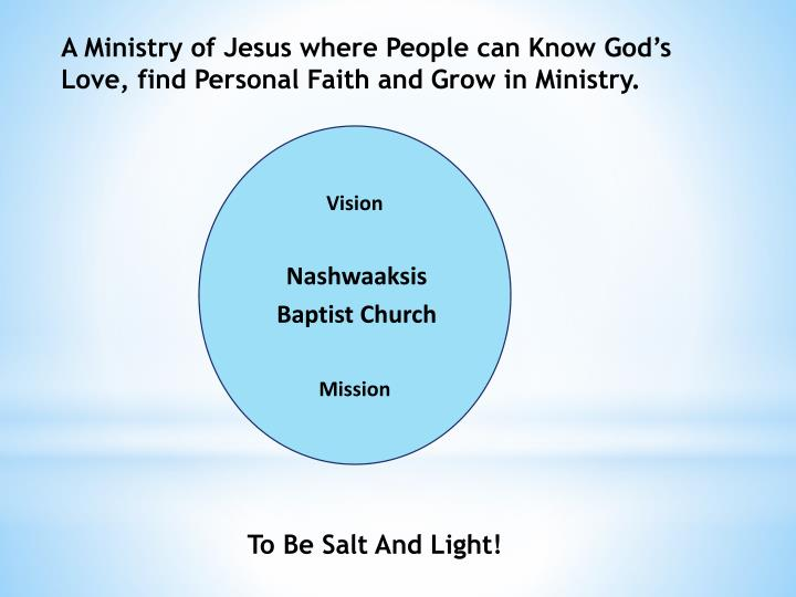 personal vision of ministry