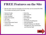 free features on the site