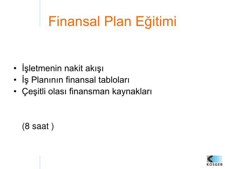 Finansal Plan Eğitimi