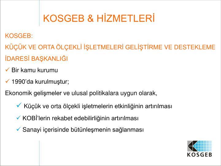 KOSGEB & HİZMETLERİ