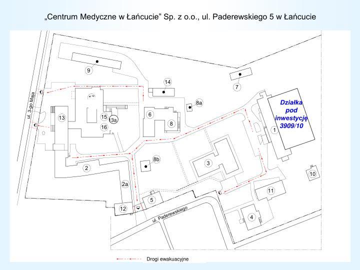 """""""Centrum Medyczne w Łańcucie"""" Sp. z o.o., ul. Paderewskiego 5 w Łańcucie"""