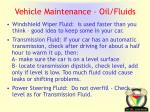 vehicle maintenance oil fluids1