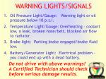warning lights signals