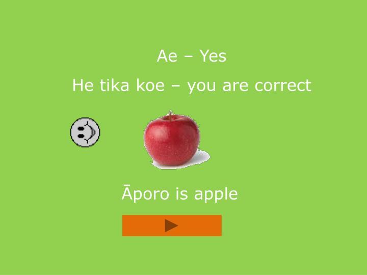 Ae – Yes