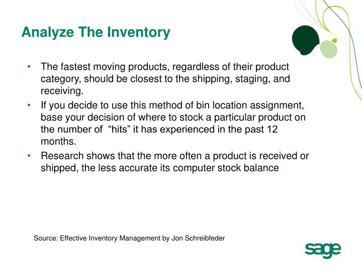 Analyze The Inventory