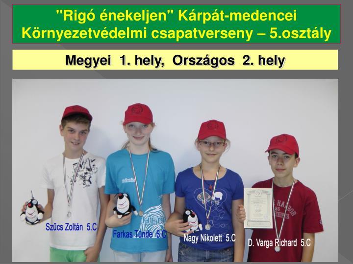 """""""Rigó énekeljen"""" Kárpát-medencei Környezetvédelmi csapatverseny"""