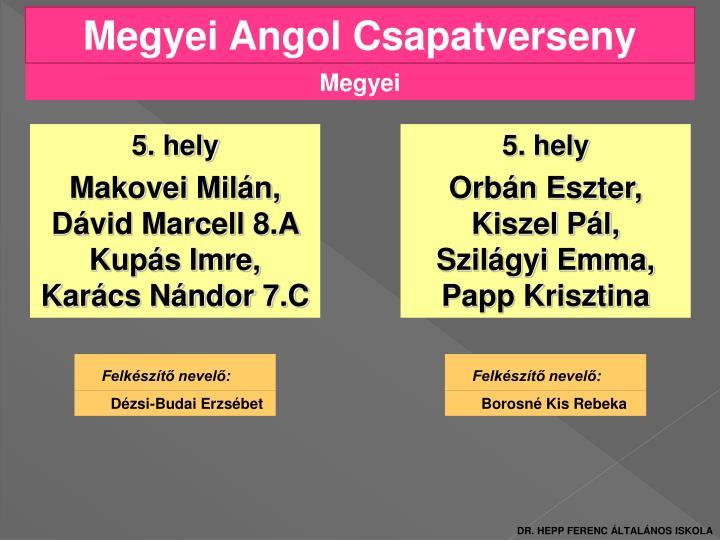 Megyei Angol Csapatverseny