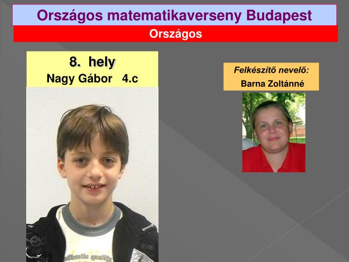 Országos matematikaverseny Budapest