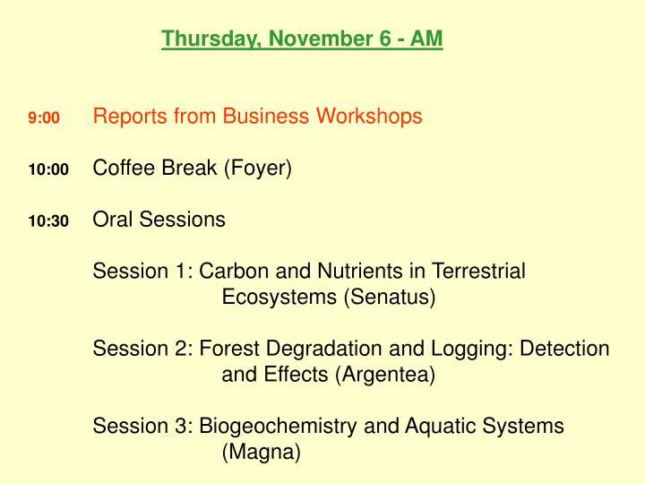 Thursday, November 6