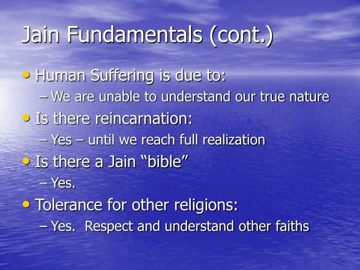 Jain Fundamentals (cont.)