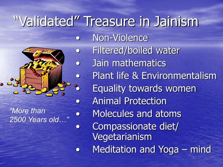 """Validated"" Treasure in Jainism"