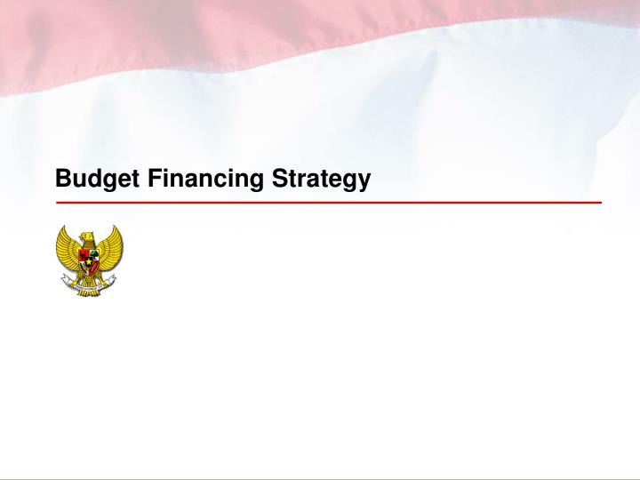 Budget Financing Strategy