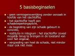 5 basisbeginselen