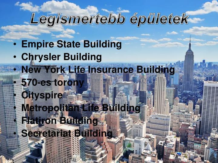 Legismertebb épületek