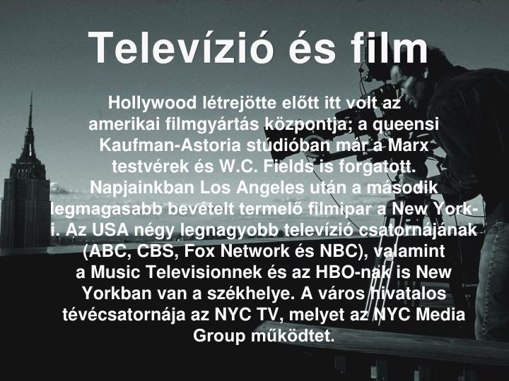 Televízió és film