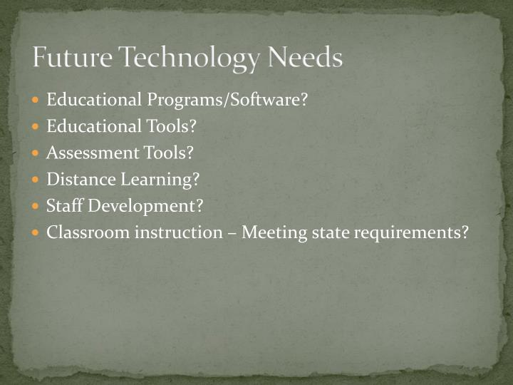 Future Technology Needs