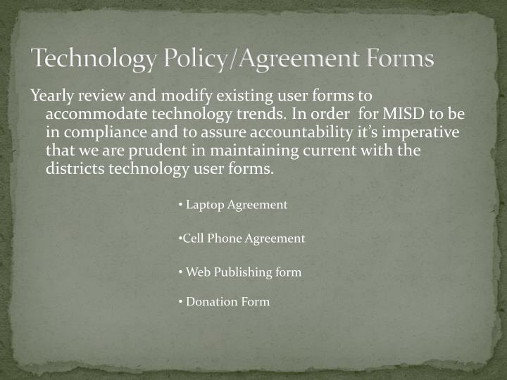 Technology Policy/Agreement Forms
