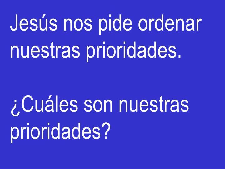 Jesús nos pide ordenar nuestras prioridades.