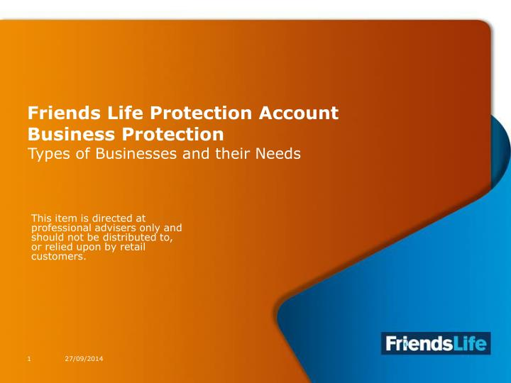 friends life protection account business protection n.