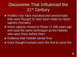 discoveries that influenced the 21 st century