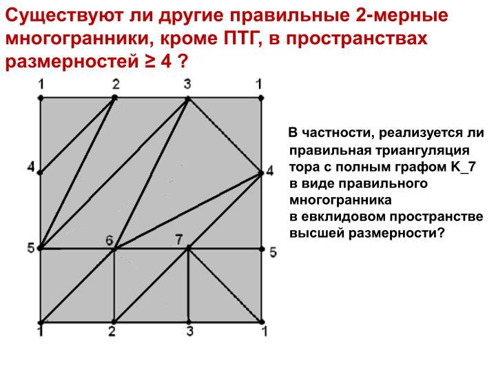 Существуют ли другие правильные 2-мерные