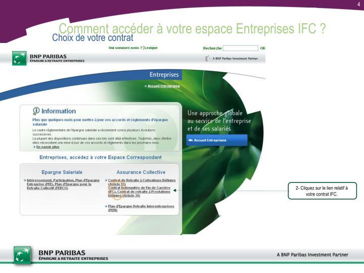 Comment accéder à votre espace Entreprises IFC ?