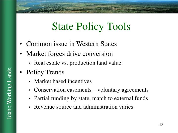 State Policy Tools