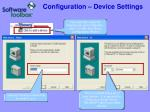 configuration device settings