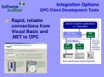 integration options opc client development tools