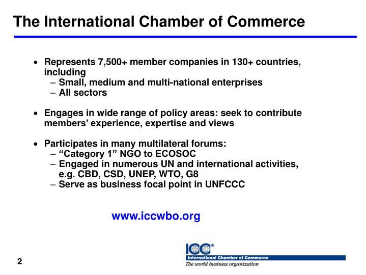The International Chamber of Commerce