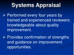 systems appraisal