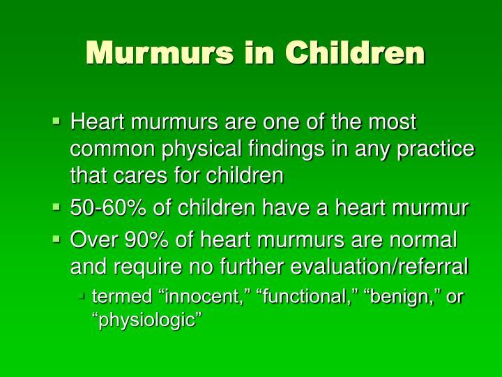 Murmurs in children