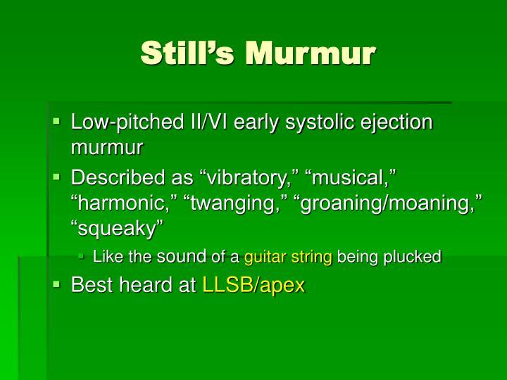 Still's Murmur