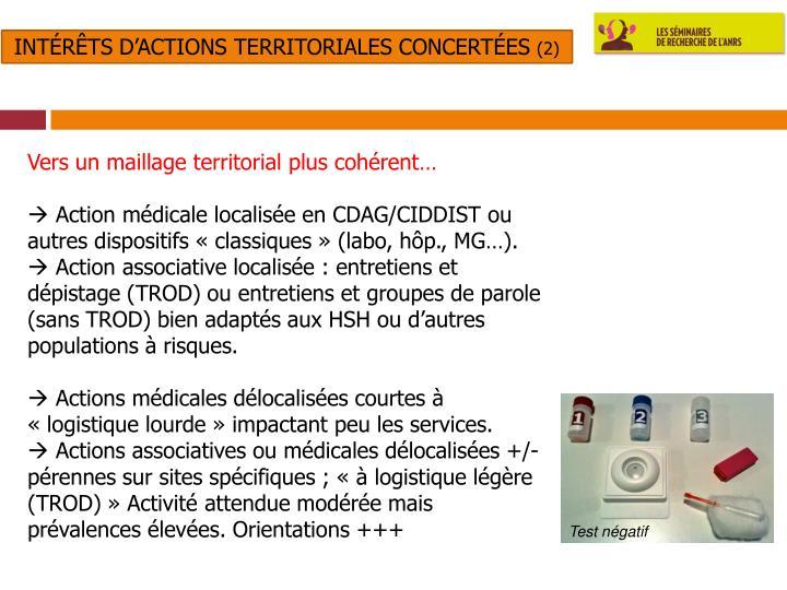 Intérêts d'actions territoriales concertées