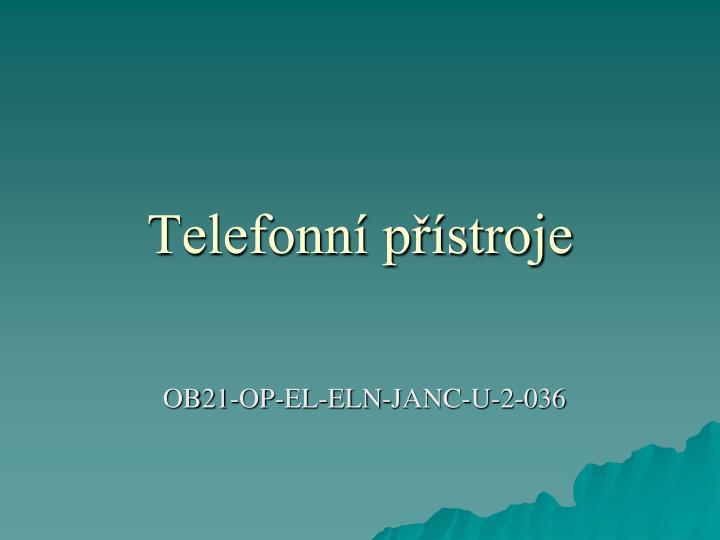 Telefonn p stroje
