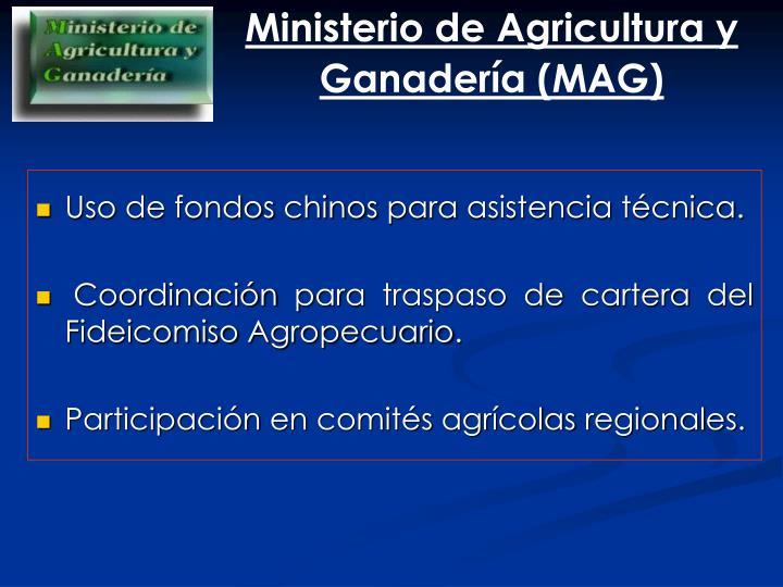 Ministerio de Agricultura y Ganadería (MAG)