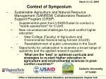 context of symposium