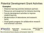 potential development grant activities1