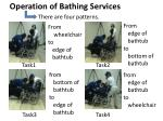 o peration of bathing s ervices