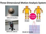 three dimensional m otion a nalysis s ystem